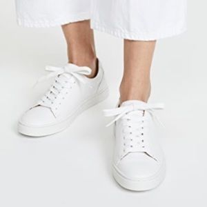 Frye Ivy Low Lace White Sneakers